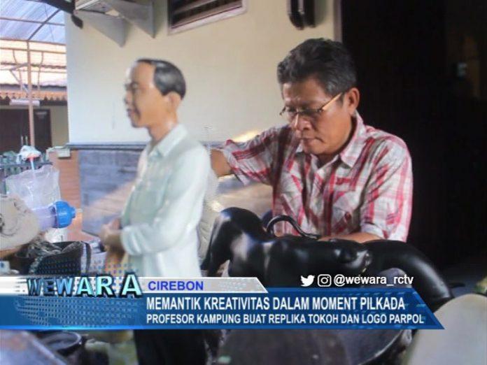Profesor Kampung Buat Replika Tokoh Dan Logo Parpol